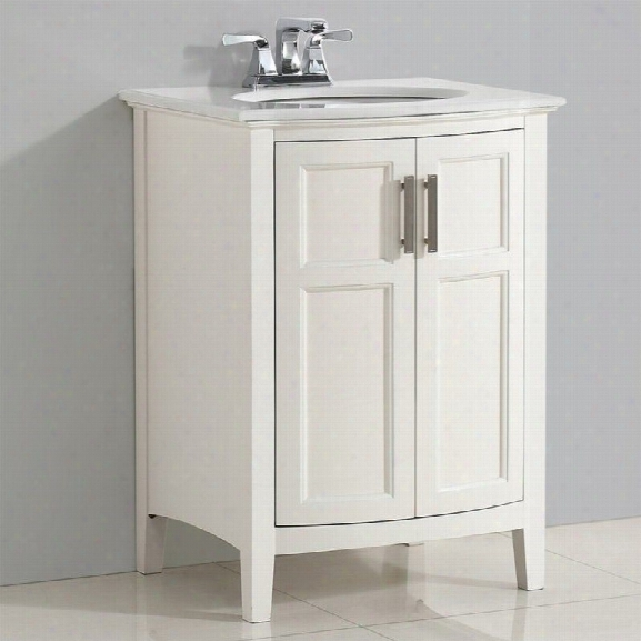 Simpli Home Winston 24 Vanity With Rounded Front In Soft White