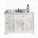 James Martin Savannah 48 Single Bathroom Vanity in White-No Top