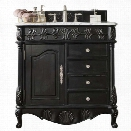 James Martin St. James 36 Single Bathroom Vanity in Empire Black