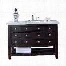 James Martin Vancouver 48 Single Bathroom Vanity in Espresso-4cm Absolute Black Rustic