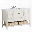 Simpli Home Cape Cod 48 Bath Vanity in Soft White