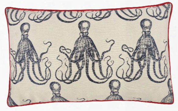 12 X 20 Octopus Jacquard Pillow Design By Thomas Paul