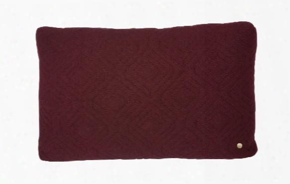 16 X 24 Quilt Cushion In Bordeaux Design B Yferm Living
