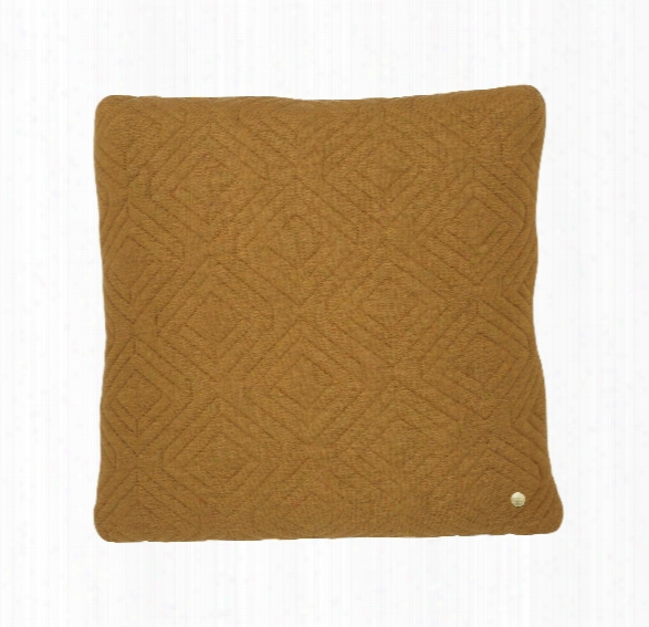 18 X 18 Quilt Cushion In Curry Design By Ferm Living
