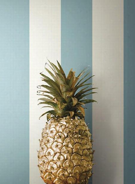 "3"" Stripe Wallpaper In Sky Blue Design By York Wallcoverings"