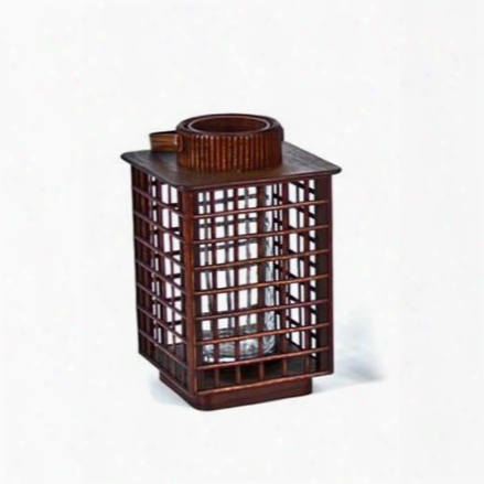 "8.5"" Square Bamboo Lantern Design By Skalny"