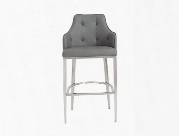 Aaron-b Bar Stool In Grey Design By Euro Style