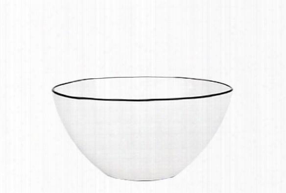 Abbesses Medium Bowl Black Rim Design By Canvas