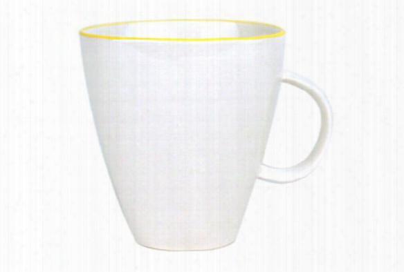 Abbesses Mug Yellow Rim Design By Canvas