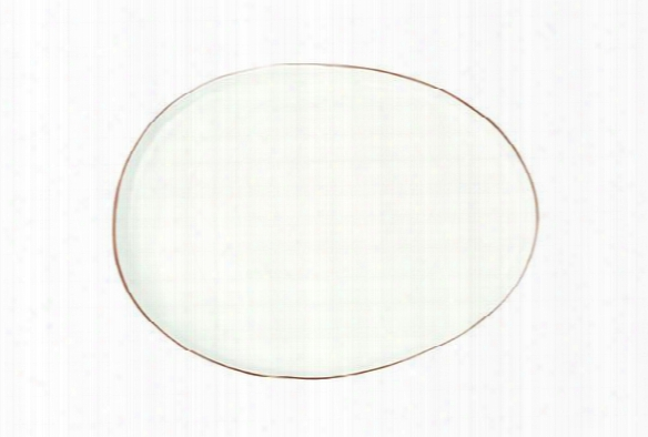 Abbesses Small Platter Gold Rim Design By Canvas