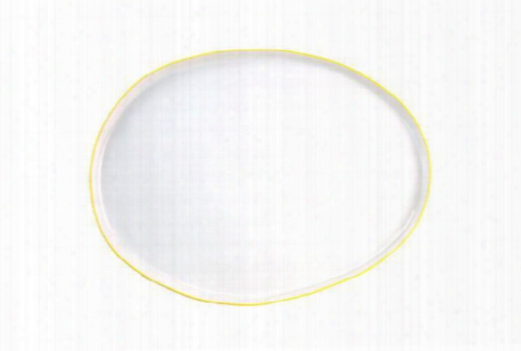 Abbesses Small Platter Yellow Rim Design By Canvas