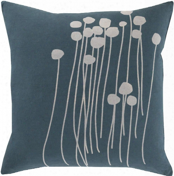 Abo Pillow In Dark Green & Light Grey Design By Lotta Jansdotter
