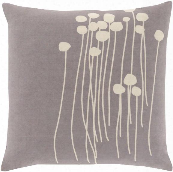 Abo Pillow In Medium Grey & Cream Design By Lotta Jansdotter
