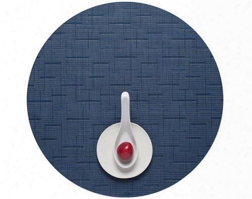 Bamboo Round Tablemat In Lapis Design By Chilewich