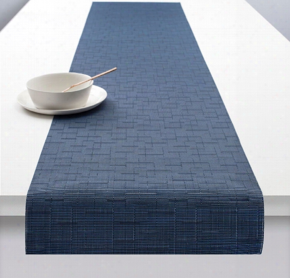 Bamboo Runner In Lapis Design By Chilewich