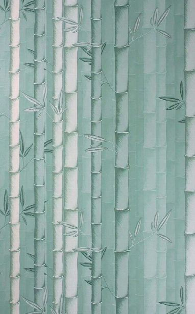 Bamboo Wallpaper In Aqua Color By Osborne & Little