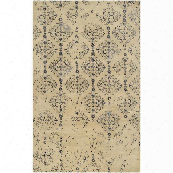 Banshee Collection New Zealand Wool Area Rug In Barley And Night Sky Design By Surya