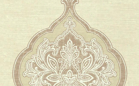 Barnes Medallion Wallpaper In Browns And Greys By Carl Robinson For Seabrook Wallcoverings