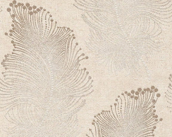 Baroque Floral Wallpaper In Beige And Cream Design By Bd Wall