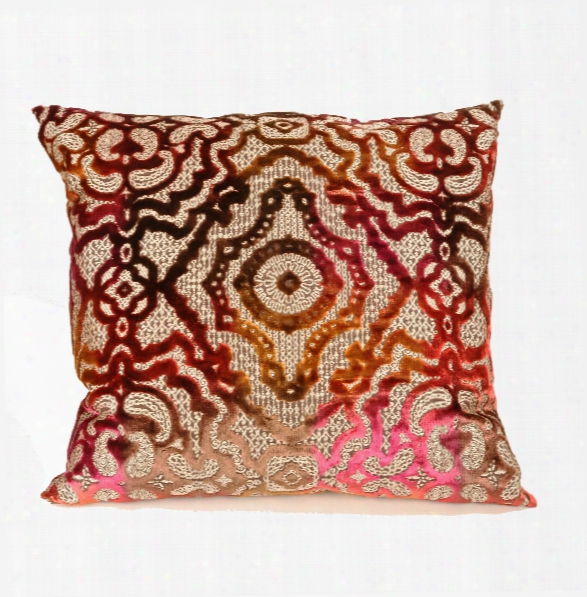 Baroque Pillow In Magenta Design By Baxter Designs