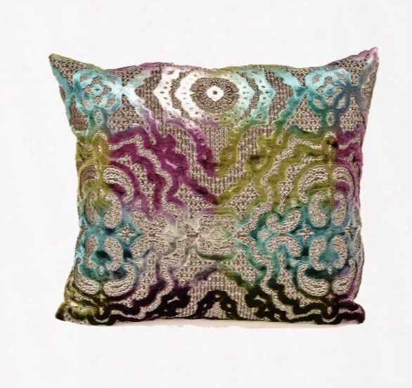 Baroque Pillow In Teal Design By Baxter Designs
