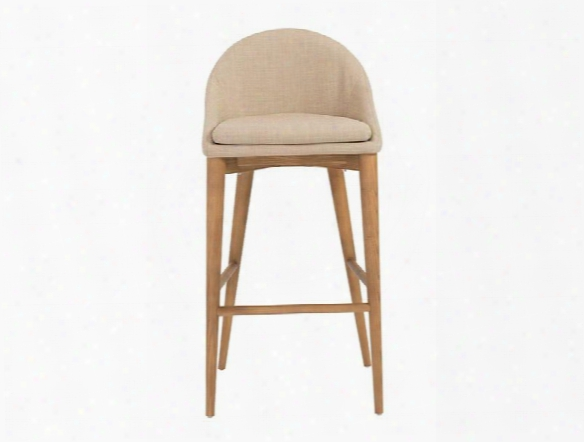 Baruch-b Bar Stool In Tan Designn By Euro Style