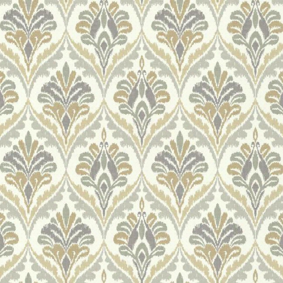 Basilica Wallpaper In Beige And Grey Design By Carey Lind For York Wallcoverings
