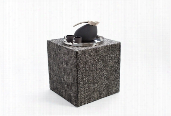 Basketweave Cube In Carbon Design By Chilewich