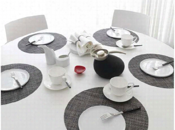 Basketweave Round Placemats In Multiple Colors Design By Chilewich