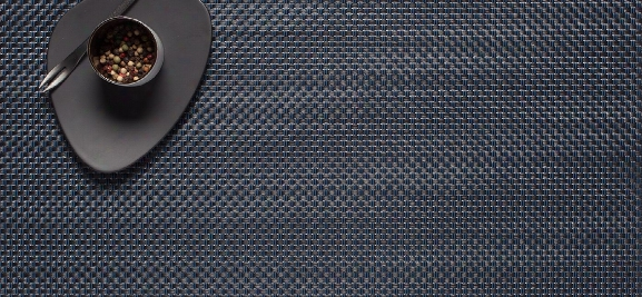 Basketweave Table Mat 14x19 In Navy Color By Chilewich