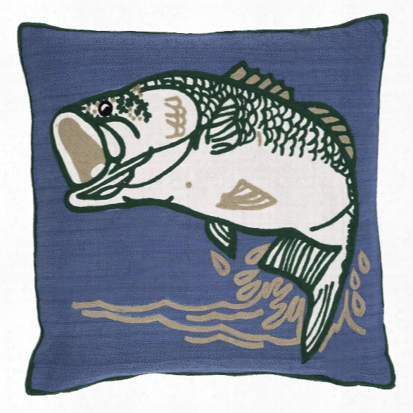 Bass Indoor/outdoor Pillow Design By Fresh American