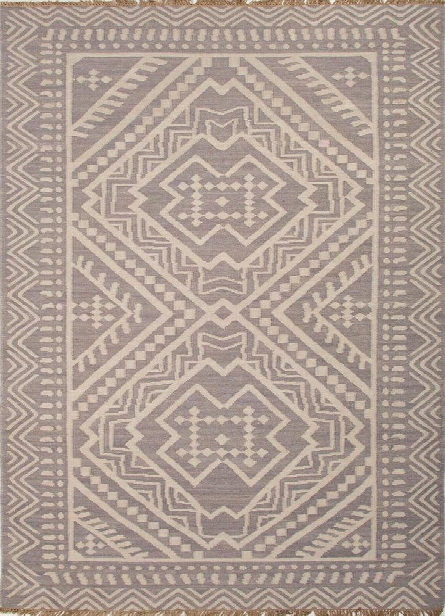 Batik Collection Miao Rug In Grey Design By Jaipur