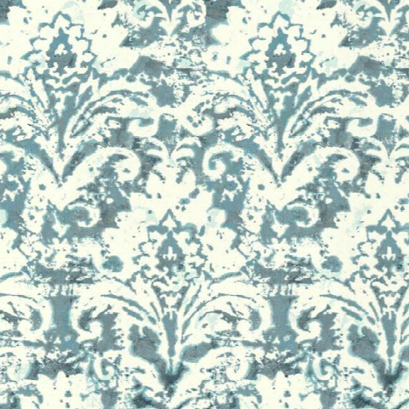Batik Damask Wallpaper In Blue Design By Carey Lind For York Wallcoverings