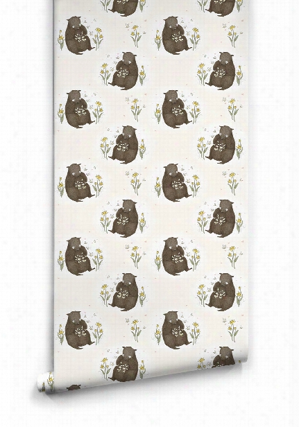 Bear & Butterfly Wallpaper By Muffin & Mani For Milton & King