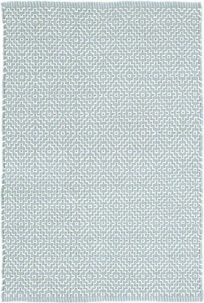 Beatrice Blue Woven Cotton Rug Design By Dash & Albert