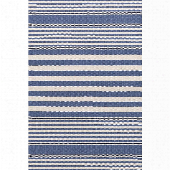Beckham Stripe Denim Indoor/outdoor Rug Design By Dash & Albert