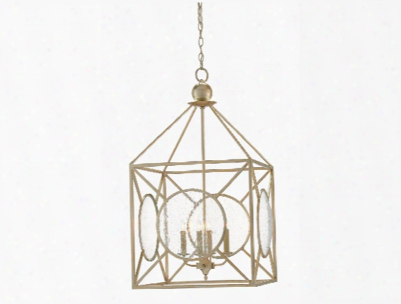 Beckmore Lantern In Silver Leaf Design By Currey & Company