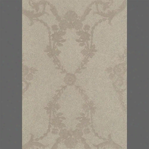 Beige Neoclassic Urns Damask Velvet Flocked Wallpaper Design By Burke Decof