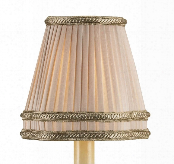 Beige Shantung Pleated Shade Design By Currey & Company