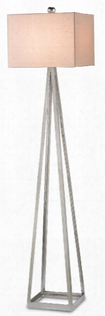 Bel Mondo Silver Floor Lamp Design By Currey & Company