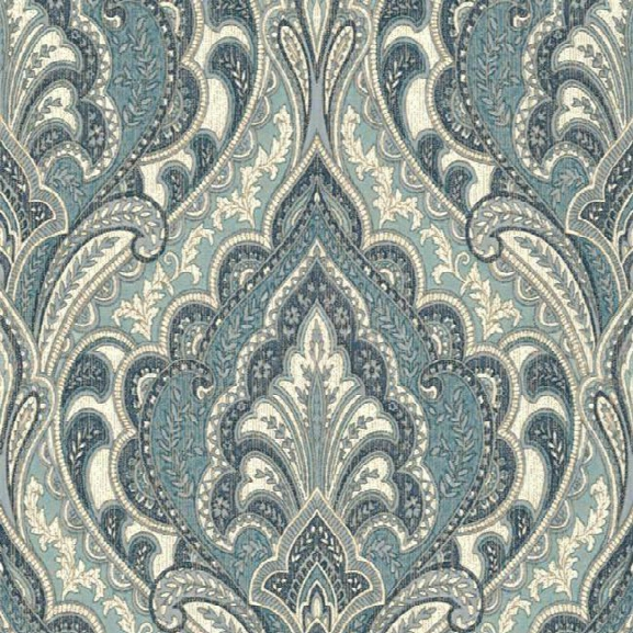 Sample Hemmingway Wallpaper In Blues Design By Carey Lind For York Wallcoverings