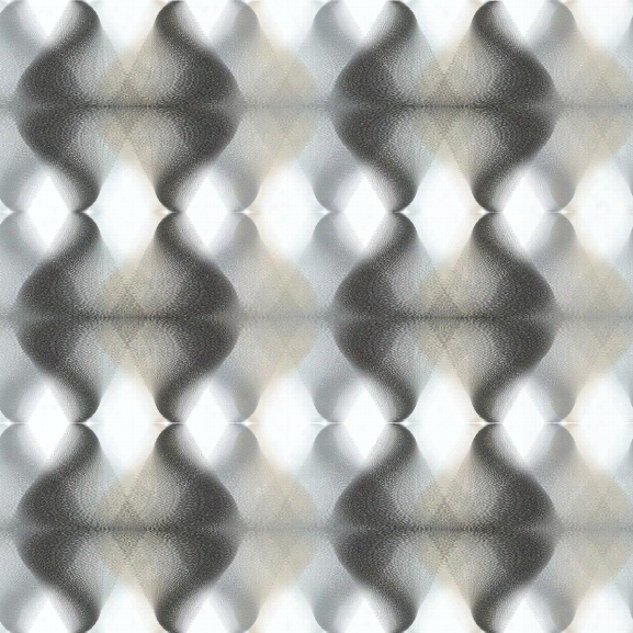 Sample Hypnotic Wallpaper In Black And Grey From The Culture Club Collection By Yokr Wallcoverings