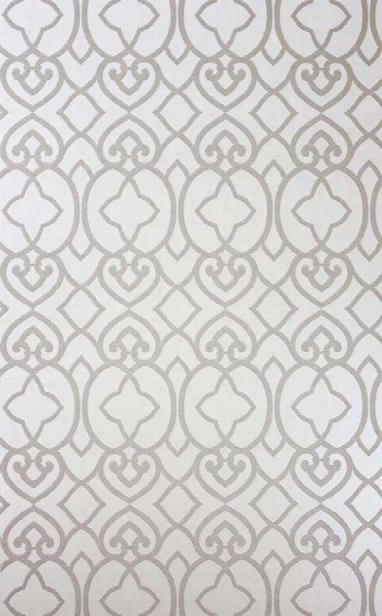 Sample Imperial Lattice Wallpaper In Ivory Mica By Matthew Williamson For Osborne & Little