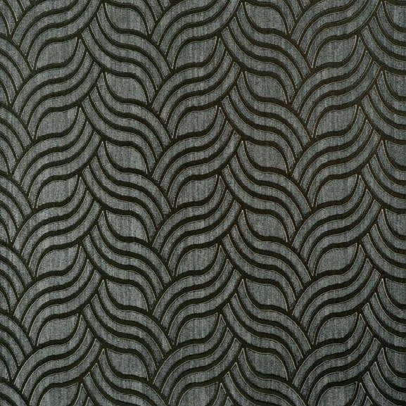 Sample Interlocking Geo Wallpaper In Charcoal And Silver By York Wallcoverings