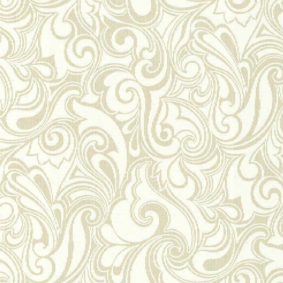 Sample Jubilee Wallpaper In Ivory And Gold Design By York Wallcoverings