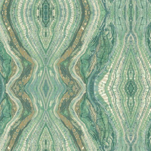 Sample Kaleidoscope Wallpaper In Aqua By Antonina Vella For York Wallcoverings