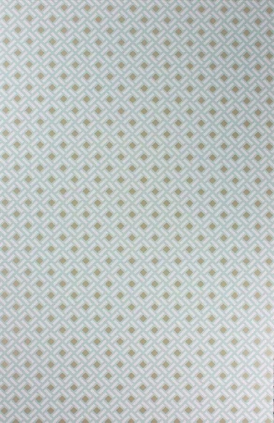 Sample Kelburn Wallpaper In Aqua And Gilver By Nina Campbell For Osborne & Little