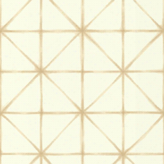 Sample Kumo Wallpaper In Beige And Ivory Design By Carey Lind For York Wallcoverings