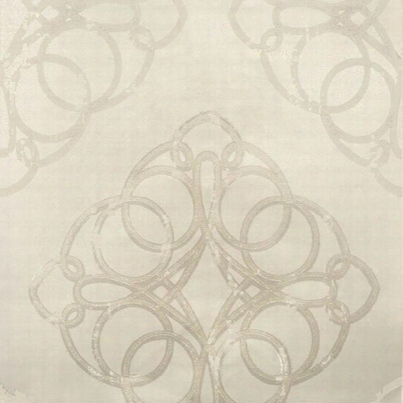 Sample Mikhaila Beige Medallion Wallpaper From The Venue Collection By Brewster Home Fashions