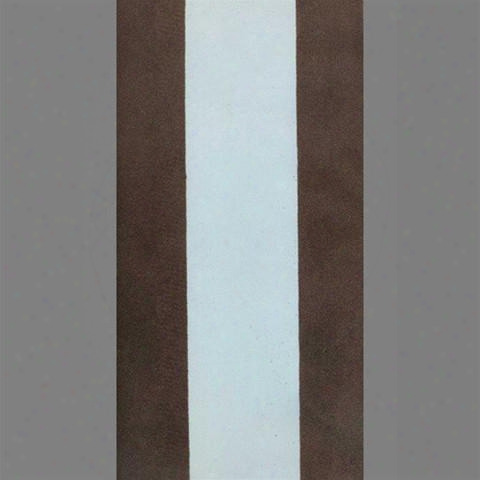 Sample Of Brown & Light Blue Striped Velvet Flocked Wallpaper By Burke Decor